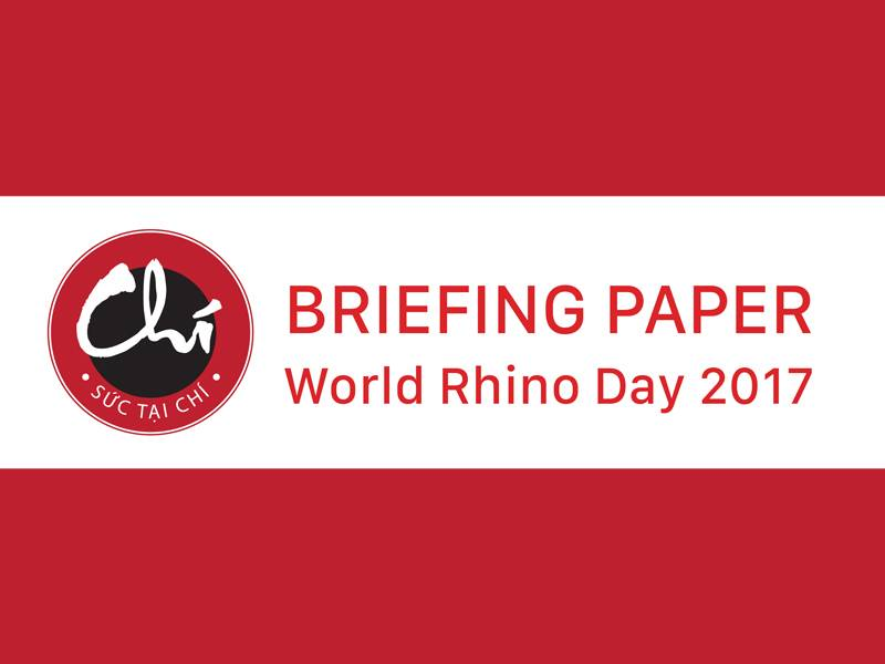 News -Chi Initiative: World Rhino Day Briefing Paper