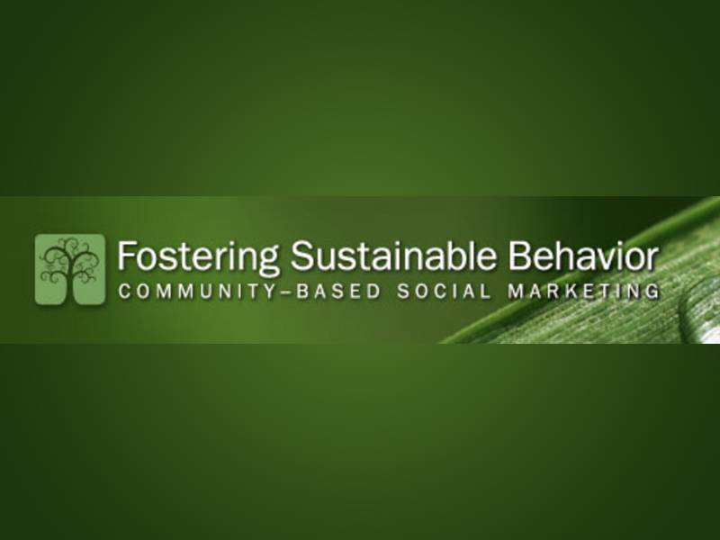 News -Fostering Sustainable Behavior Community Based Social Marketing (CBSM)